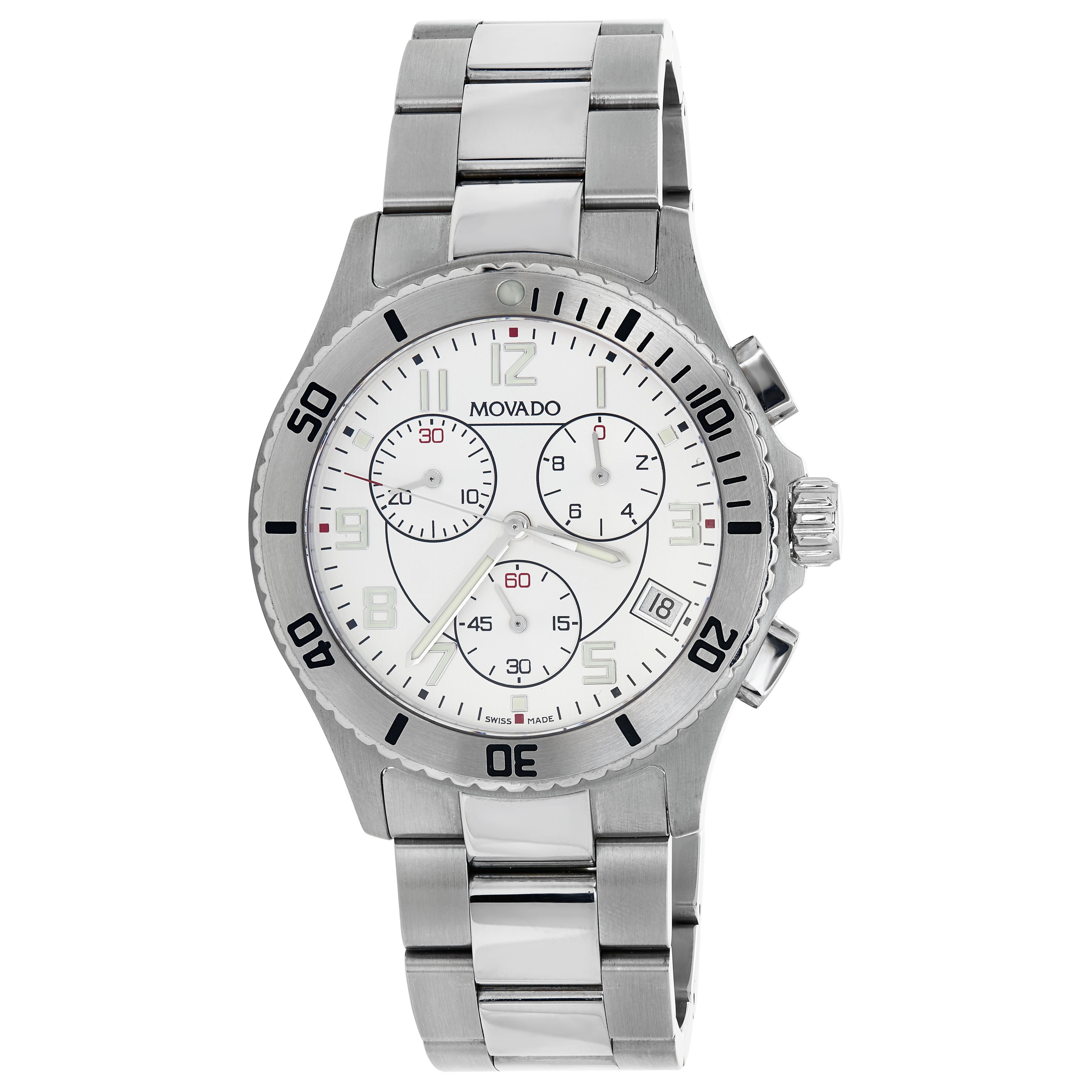 Movado Men's Stainless Steel Chronograph Watch