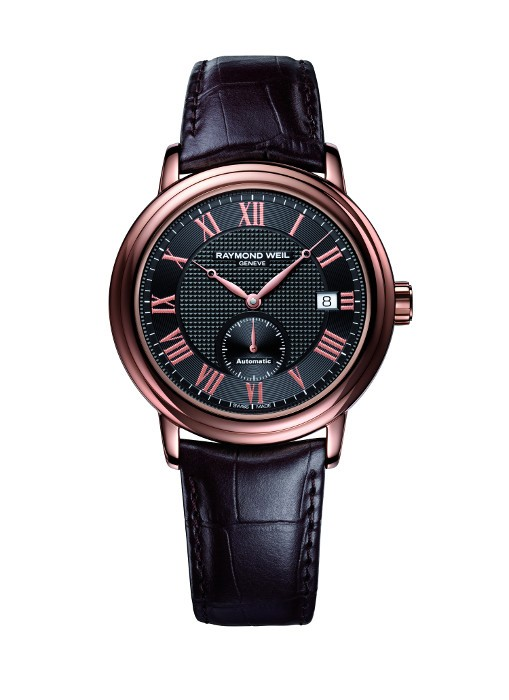 Gts Rose Case Brown Leather Strap Automatic Maestro