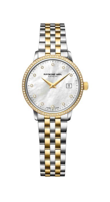 Lds T/T Diamond MOP Dial and Dia Bezel Toccata