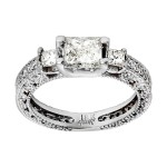 Ladies 1.000 Ct. / .900 Ctw Princess Cut Diamond Engagement Ring