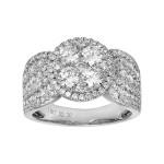 Ladies 2.300 Ctw Diamond Fashion Ring / 18 Kt W