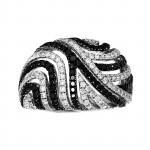 Ladies 1.220 Ctw Round Cut Diamond Ring / 14 Kt W