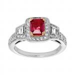 Ladies .880 Ctw Diamond Ring / 14 Kt W
