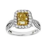 Ladies 2.040 Ctw Diamond Ring / 18 Kt W