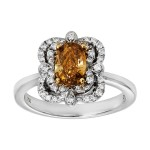Ladies 1.040 Ct. / 1.330 Ctw Oval Cut Diamond Engagement Ring