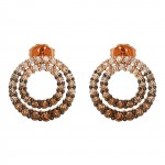 Ladies Diamond Earrings / Rose Gold 14 Kt.