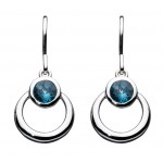 Kit Heath Blue Loop Earrings