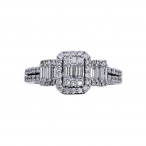 Ladies .750 Ct. / .750 Ctw Radiant Cut Diamond Engagement Ring