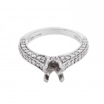Ladies .820 Ctw Diamond Semi-mount / 14 Kt W