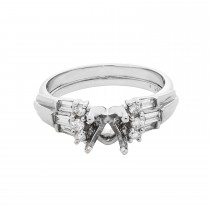 Ladies .500 Ctw Diamond Semi-mount / 14 Kt W
