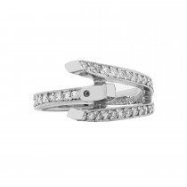 Ladies .480 Ctw Diamond Semi-mount / 18 Kt W