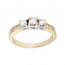 Ladies .500 Ctw Round Cut Diamond Ring / 14 Kt W