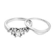 14kw .50ctw Engagement Ring & Contour Band