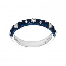 Ladies Round Cut Diamond Ring / 18 Kt W