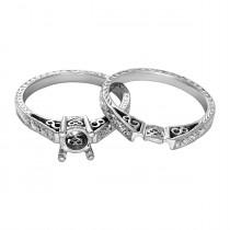Tacori Semi-Mount Wedding Set with .13ctw Diamond