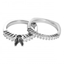 Ladies 1.000 Ctw Diamond Semi-mount / 14 Kt W