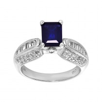 18kw sapphire and diamond ring