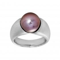 Ladies Pearl Ring / 18 Kt W