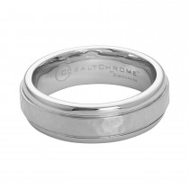 Men's Benchmark Cobalt Chrome Hammered Band