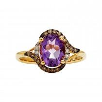 Ladies Oval Cut Amethyst Ring / 14 Kt Y