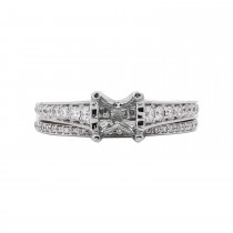Ladies .630 Ctw Diamond Semi-mount / 14 Kt W
