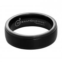 Men's Benchmark Cobalt Chrome Black Ring