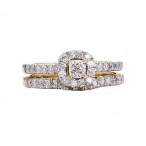 Ladies 1.000 Ctw Round Cut Diamond Ring / 14 Kt Y