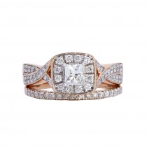 Ladies .670 Ctw Diamond Ring / Rose Gold 14 Kt.