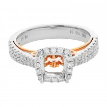 18k Two-Tone Diamond Semi-Mount