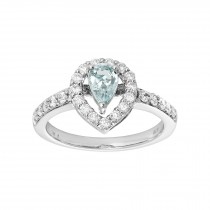 14kw Aquamarine and Diamond (.50ctw) Ring