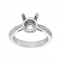 Ladies .310 Ctw Diamond Semi-mount / 18 Kt W