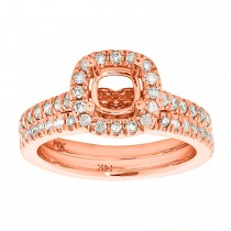 0.75tw Diamond Semi-mount & band / Rose Gold 14 Kt.