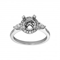 Ladies Diamond Semi-mount / 14 Kt W