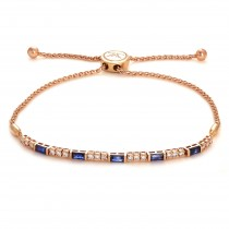 Le Vian Sapphire and Diamond Bracelet / Rose Gold 14 Kt.