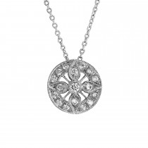 Ladies Diamond Pendant / 18 Kt W