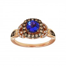 .430 Ctw Tanzanite Ring / Rose Gold