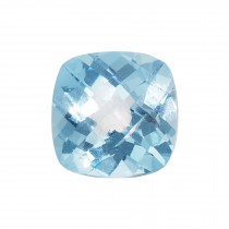 14mm Antique Square Double-sided Checkerboard AA Sky Blue Topaz