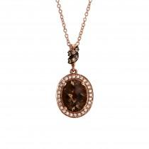 Le Vian 14k Strawberry Gold Chocolate and Vanilla Diamond Pendant