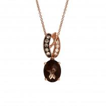 Le Vian 14k Strawberry Gold Chocolate & Vanilla Diamond Pendant