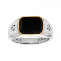 Gents Onyx Ring / Sterling Silver