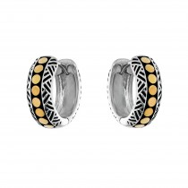 EFFY 2-Tone Hoop Earrings / Silver & 18 Kt.
