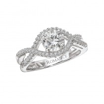 Ladies .500 Ct. / .750 Ctw Round Cut Diamond Engagement Ring