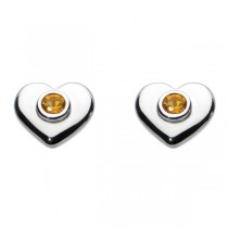 Kit Heath Citrine Heart Earrings