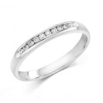 Ladies .100 Ctw Diamond Ring / 14 Kt W
