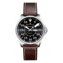 Hamilton Gents Khaki Pilot 42mm Quartz Brown Leather Strap