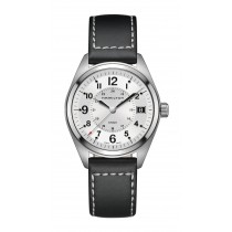 Hamilton Gents Khaki Field Quartz 40mm Black Leather Strap