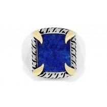 Gents Lapis Ring / Silver