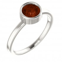Imitation Garnet Ring / Sterling Silver