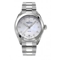 Lds Stainless Steel MOP Dial with Diamond Marker Alpina Watch