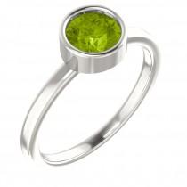 Sterling Silver Imitation Peridot Ring